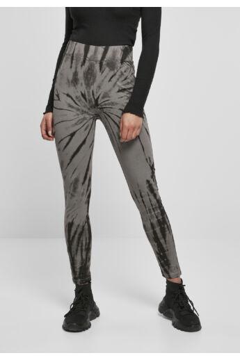 Szürke-fekete magasított derekú leggings
