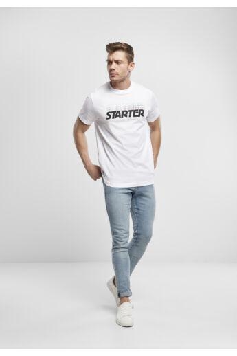 STARTER emblémás nyomott férfi póló