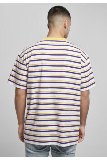 Színes csíkos férfi póló