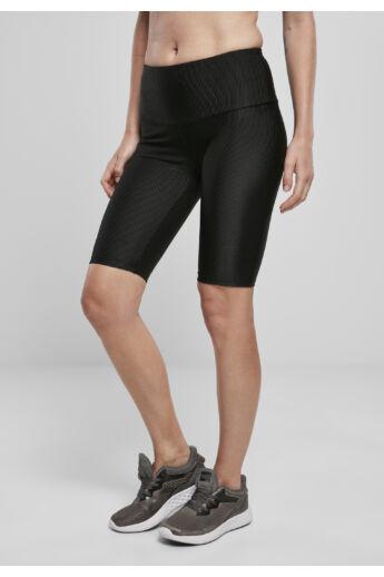 Női divatos fekete kerékpáros nadrág