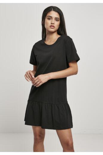Női fekete ruha pamutból