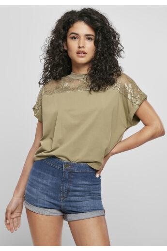 divatos női csipkés póló