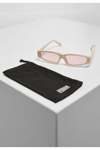 Merész vonalú divatos napszemüveg, barna-pink