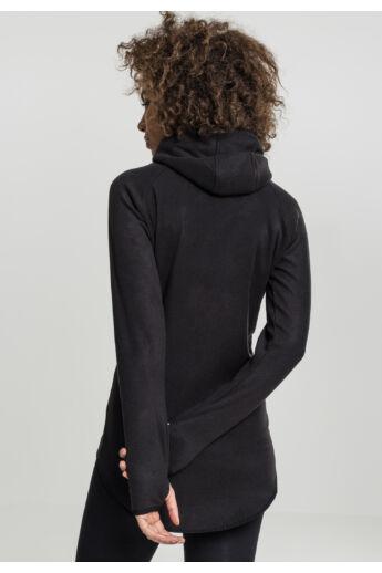 Női fekete cipzáros pulóver