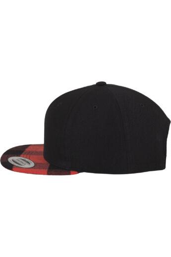 Feket-piros kockás snapback