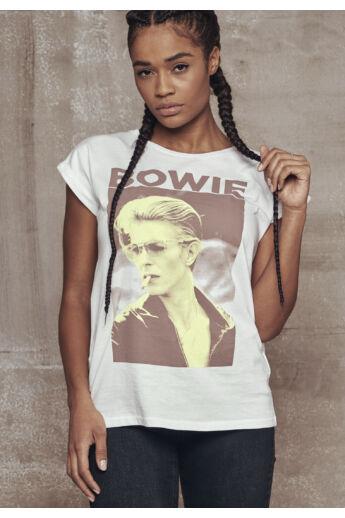 David Bowie fehér női póló