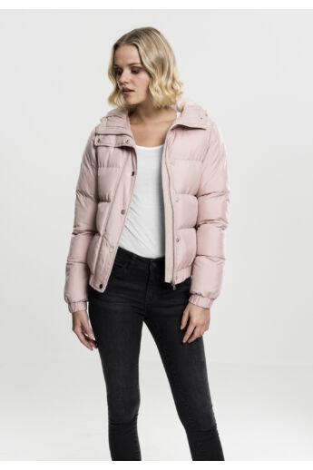 Női rózsaszín pufi kabát