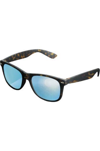 Divatos borostyán-kék napszemüveg