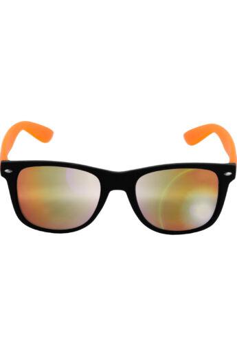 Divatos fekete-narancs modern napszemüveg