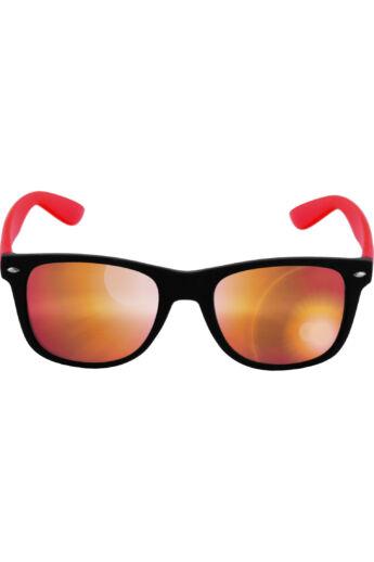 Divatos fekete-piros modern napszemüveg