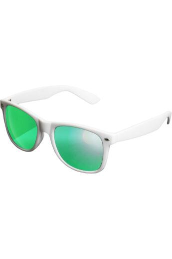 Divatos fehér-zöld modern napszemüveg