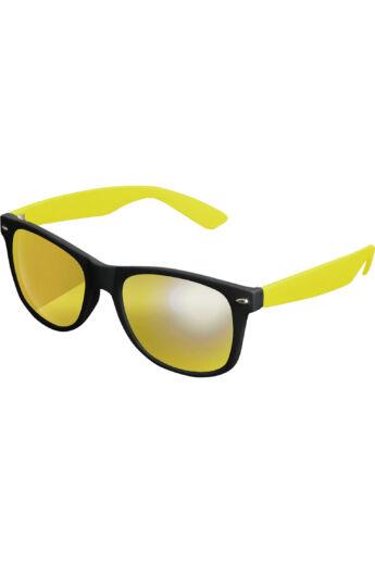 Divatos fekete-sárga modern napszemüveg