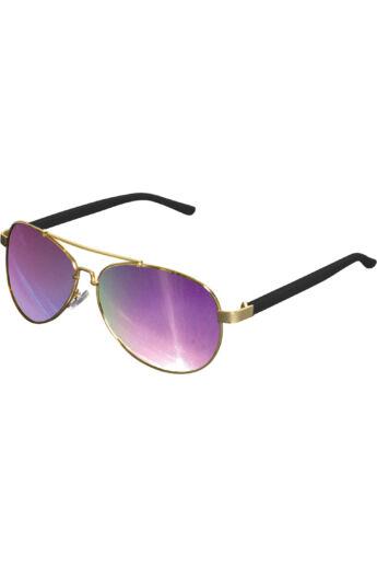 Divatos arany-lila napszemüveg