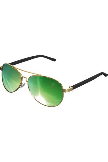 Divatos arany-zöld napszemüveg