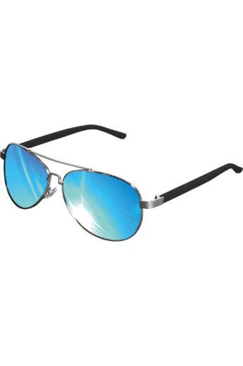 Divatos ezüst-kék napszemüveg