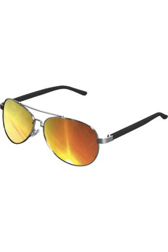 Divatos ezüst-narancs napszemüveg