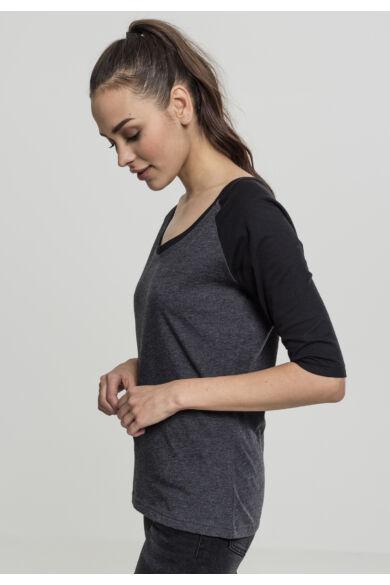 háromnegyedes ujjú női póló