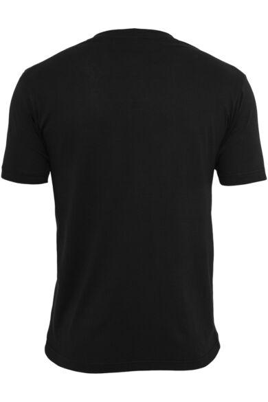 V-nyakú férfi póló, fekete