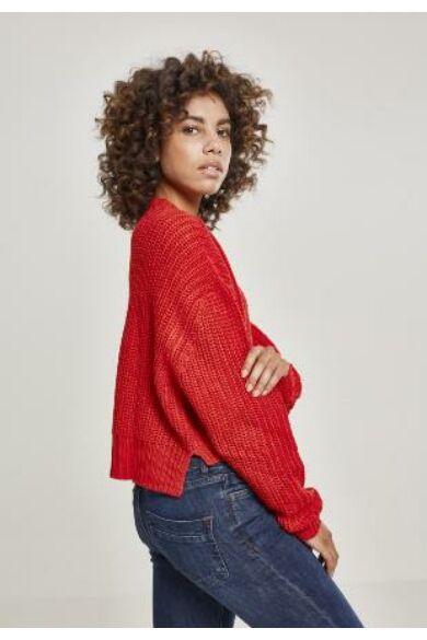 piros női pulóver