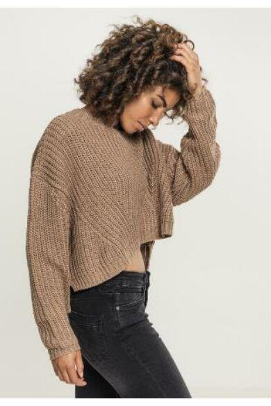 világos barna női pulóver