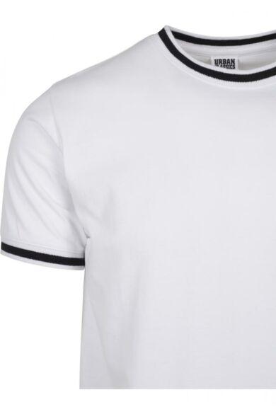 Fehér divatos férfi póló