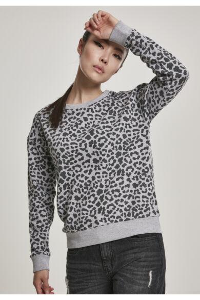 Leopárd mintás női pulóver