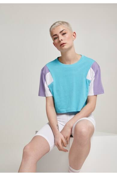 női színes rövid póló