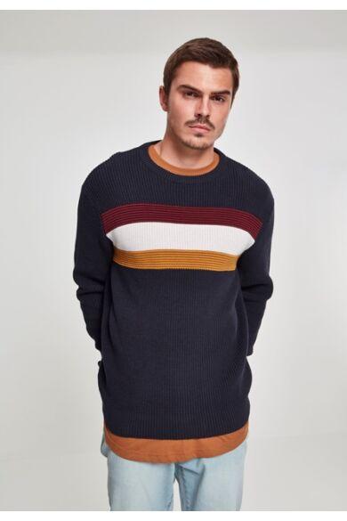 csíkos férfi pulóver