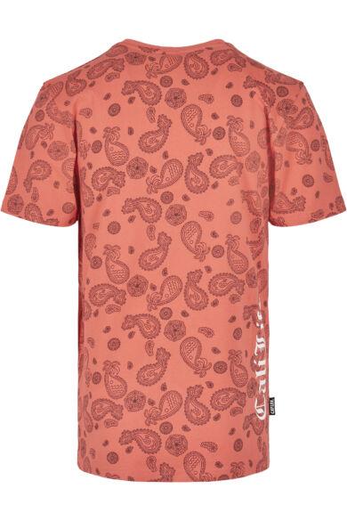 Divatos koral színű póló