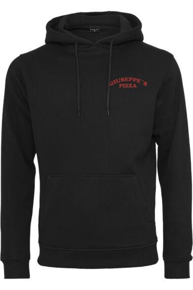 nyomott mintás kapucnis pulóver
