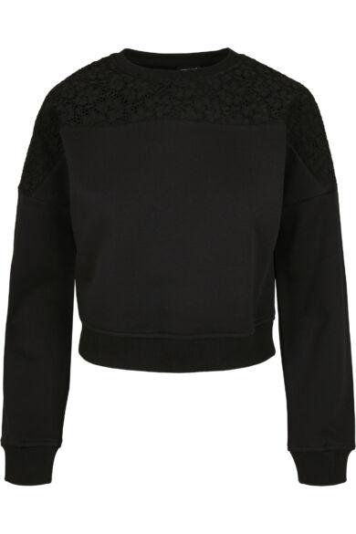 csipke betétes női pulóver