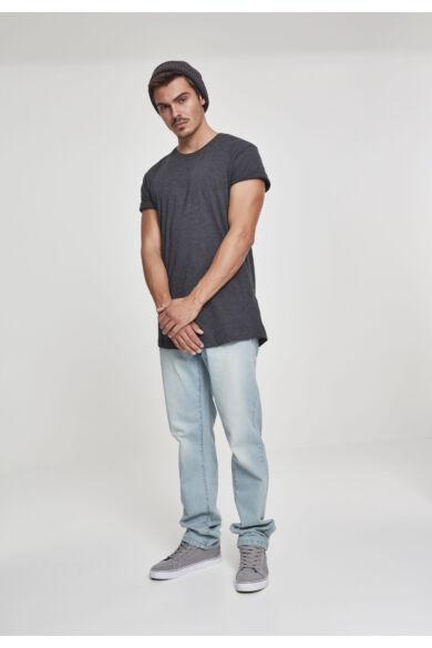 férfi hosszú pamut póló