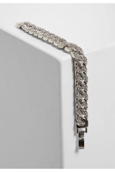 ezüst színű karkötő