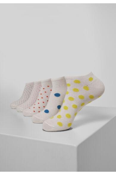 5 db-os pöttyös zokni csomag