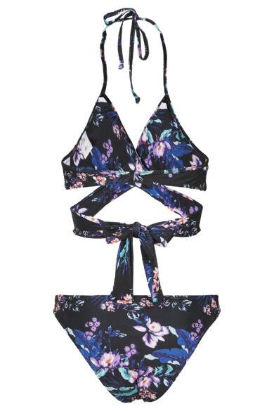 nyomott mintás keresztpántos bikini