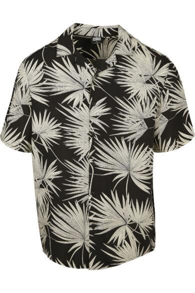 páfrány mintás férfi ing