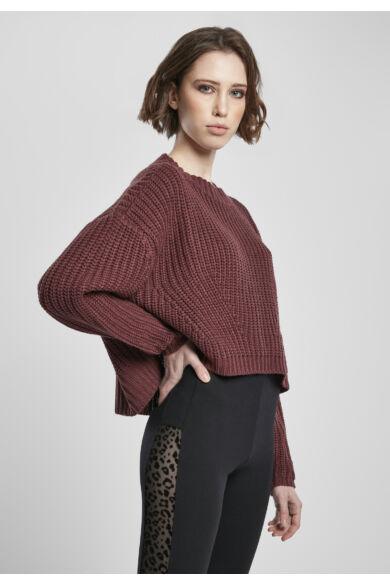 rövid kötött női pulóver