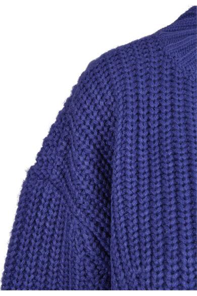 lila női kötött rövid pulóve