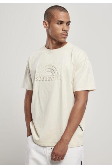 Divatos homokszín férfi póló Southpole 3D nyomott mintával