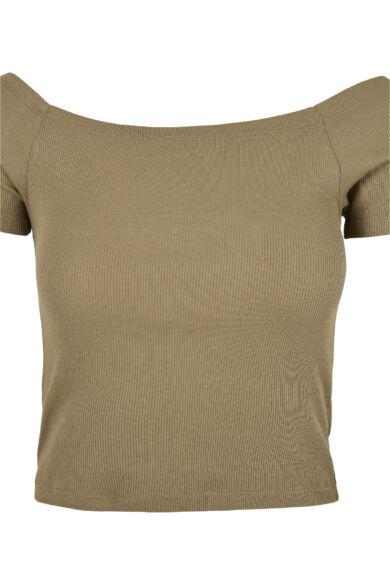Ejtett vállú női póló