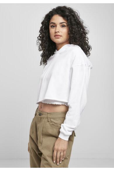női rövid kapucnis pulóver