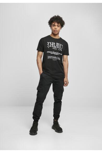 nyomott mintás férfi divat póló