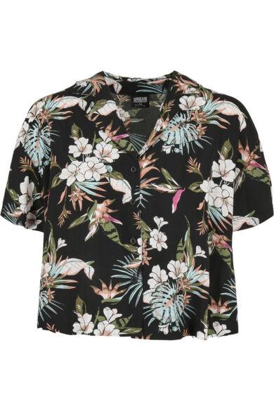 divatos virág mintás női blúz