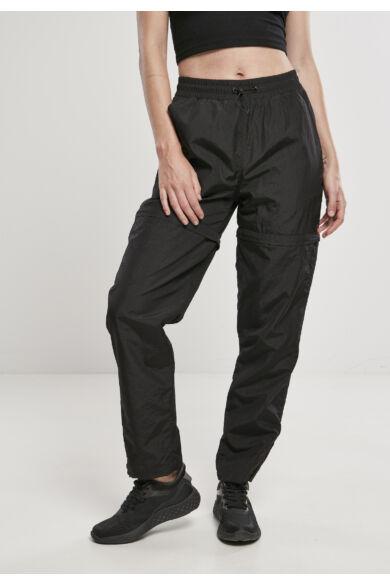 Cipzáras fekete női nadrág
