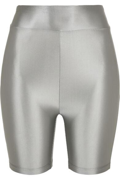 fényes anyagú női kerékpáros nadrág