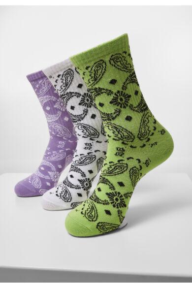 színes divatos zokni