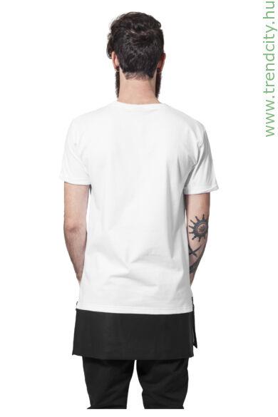 Férfi hosszított póló bőrhatású aljjal