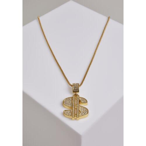 dollár fém nyaklánc