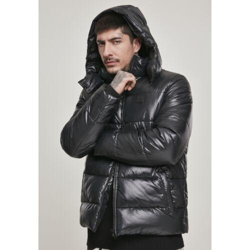 fekete férfi kabát